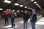 WPO 2015 Organisers in Tractor Parking Shed